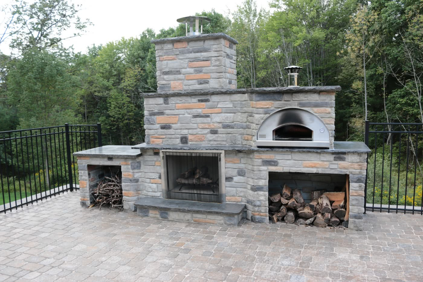 Outdoor Pizza Oven With Fire Feature Build. View Details