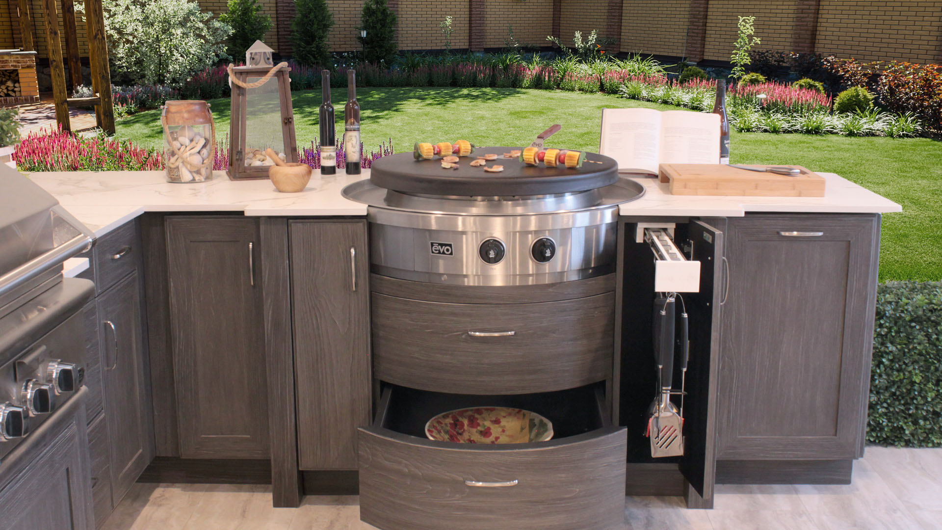 Evo Built In Cooktop Grill Griddle For Outdoor Kitchens Oasis Outdoor Living Cooking outdoors is a delight. oasis outdoor living